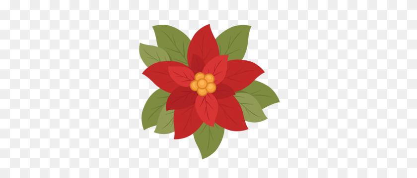 Christmas Poinsettia Flower Scrapbook Clip Art Christmas Cut Outs - Poinsettia Clip Art