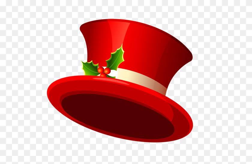 Christmas Red Top Hat Clip Art Clip Art - Top Hat Clipart