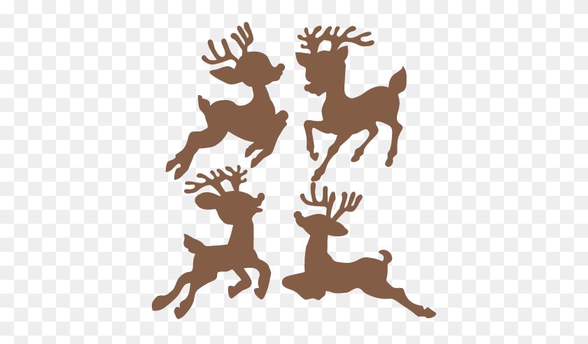 Christmas Reindeer Set Scrapbook Cute Clipart - Reindeer Antlers Clipart