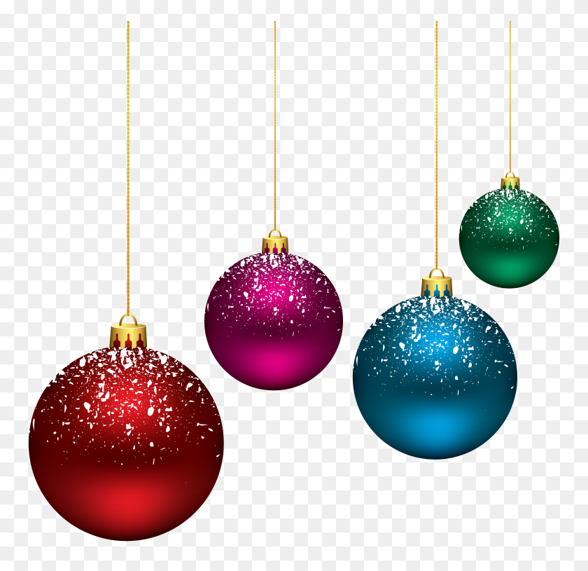 Christmas Snowy Balls Png Clip Art - Snowy Clipart