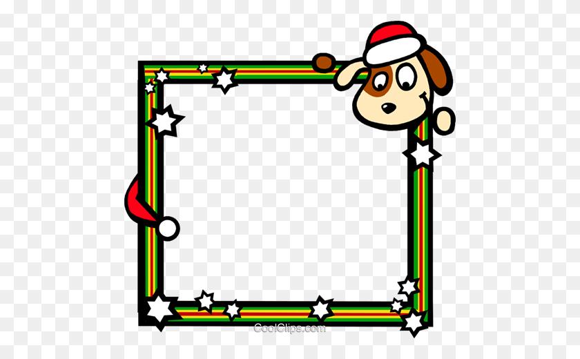 Christmas Themed Frame Royalty Free Vector Clip Art Illustration - Photo Frame Clipart