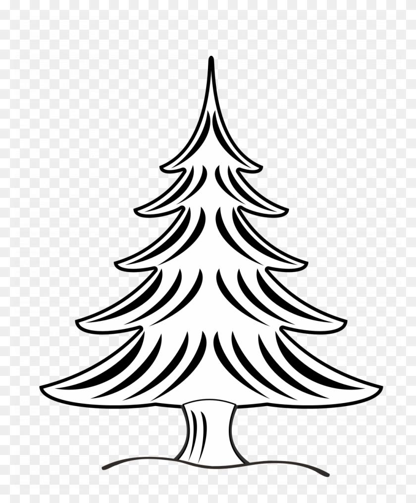 Christmas Tree Christmase Incredible Black And White Clipart - Christmas Tree Clipart PNG