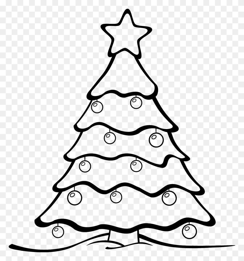 Christmas Tree Clip Art Black - Black Tree Clipart