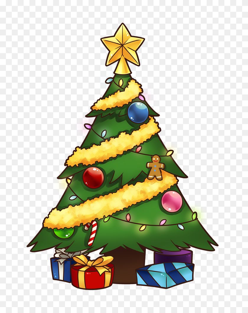 Christmas Tree Clipart - Luau Images Clipart