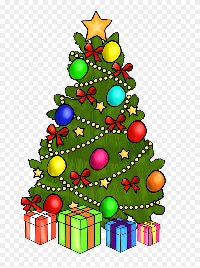 Christmas Tree Stunning Clip Art Of Christmas Tree Clip Art - Christmas Tree Clipart Black And White