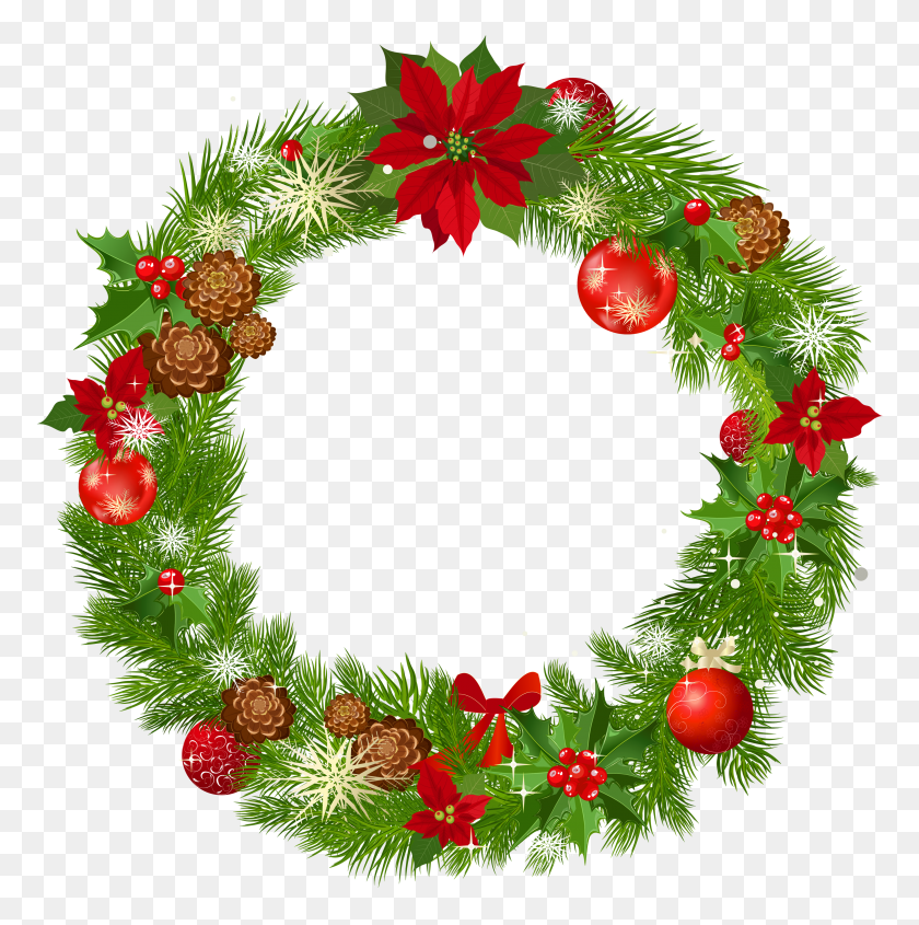 Christmas Wreath Border Clipart Kid - Christmas Page Border Clip Art