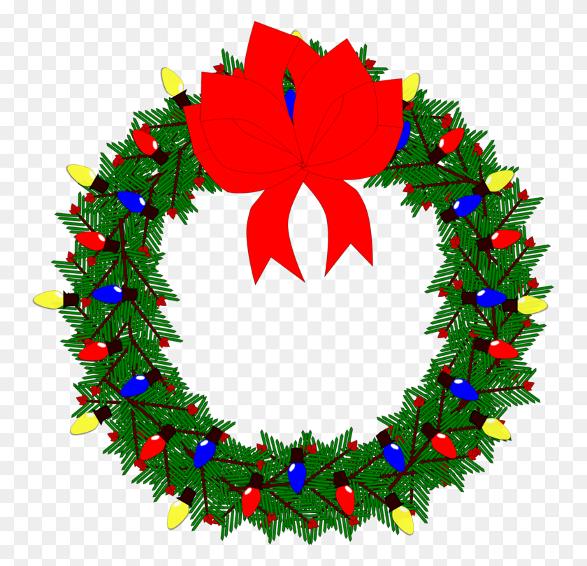 Christmas Wreaths Clip Art Christmas Christmas Day - Merry Christmas Wreath Clipart