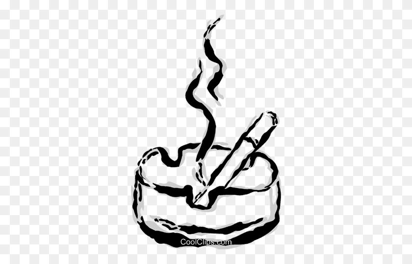 306x480 Cigarette And Ashtray Royalty Free Vector Clip Art Illustration - Ashtray PNG