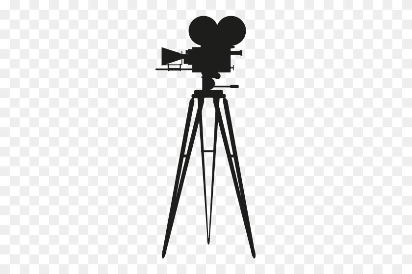 Cinema Camera Silhouette Png Clip Art - Camera On Tripod Clipart
