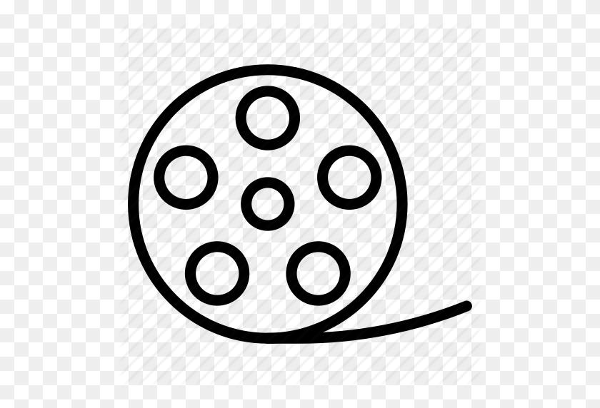 Cinema, Film, Movie, Reel, Roll, Video Icon - Movie Reel PNG
