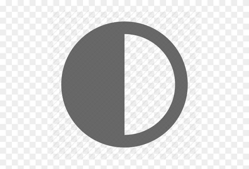 Circle, Contrast, Highlight, Semicircle, Shadow Icon - Semi Circle PNG