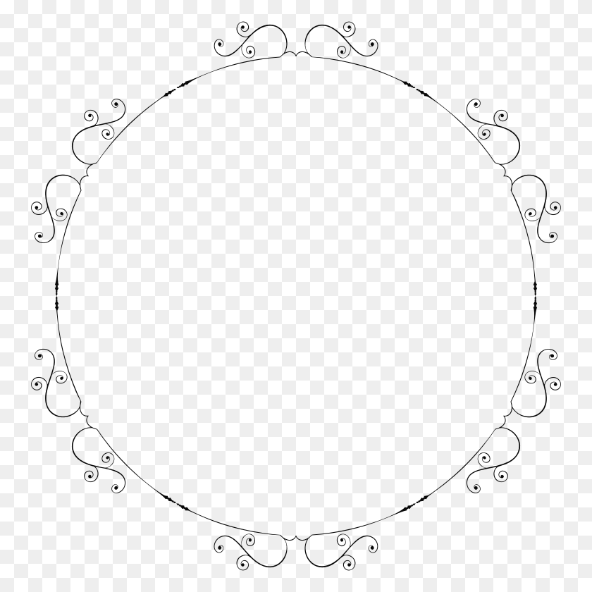 Circle Fancy Black Border Freetoedit - Fancy Circle PNG