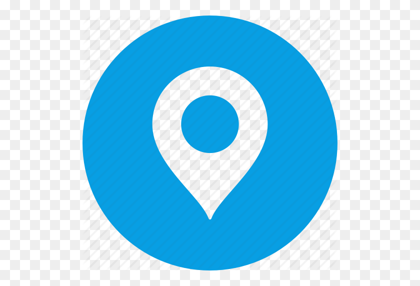 Circle, Gps, Location, Map, Marker, Pin, Place Icon - Gps Icon PNG