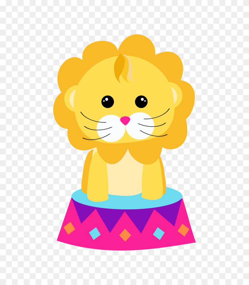 Circo Rosa - Circus Lion Clipart