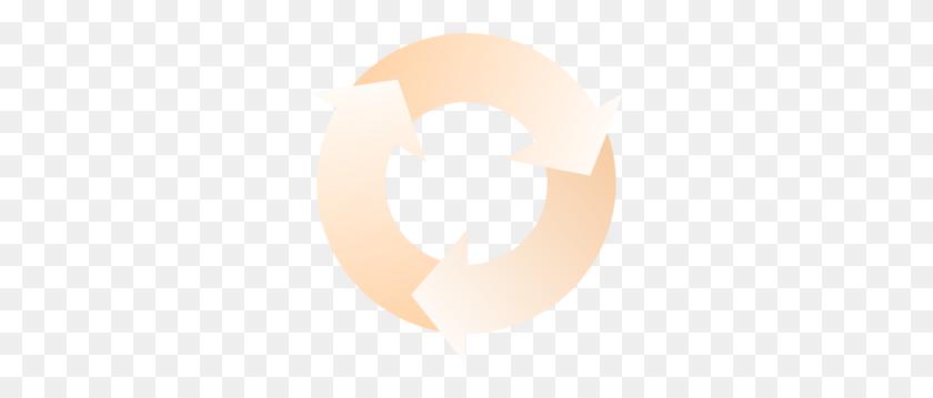 282x299 Circular Arrow Clip Art - Arrow Outline Clipart