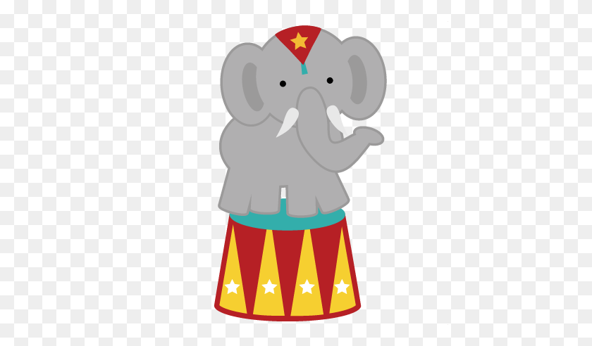 Circus Elephant For Scrapbooking Circus - Circus Animals Clipart