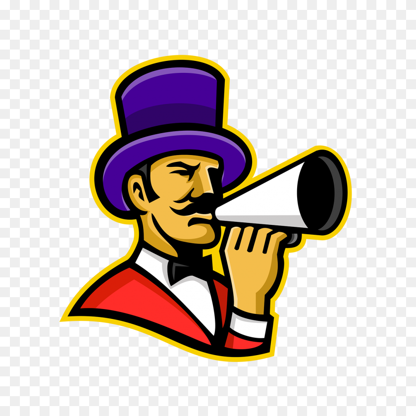 Circus Ringleader Or Ringmaster Mascot On Behance - Circus Ringmaster Clipart