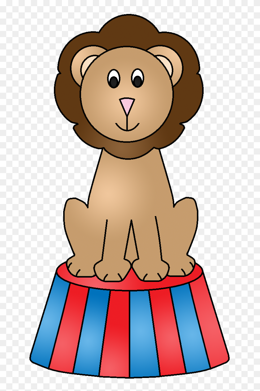 Cirque, Foraine Lion - Circus Lion Clipart