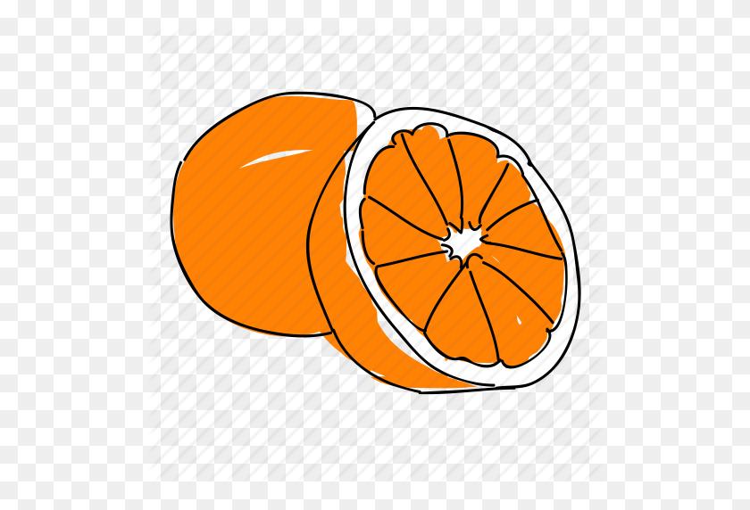 Citrus, Food, Fruit, Hand Drawn, Orange, Oranges, Produce Icon - Oranges PNG