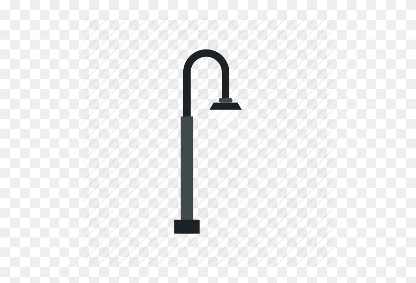 512x512 City, Electricity, Equipment, L Light, Pole, Street Icon - Metal Pole PNG