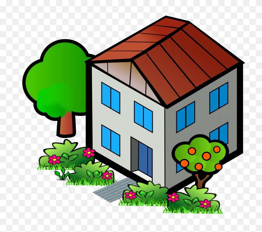 City House Clipart - Neighborhood Clipart