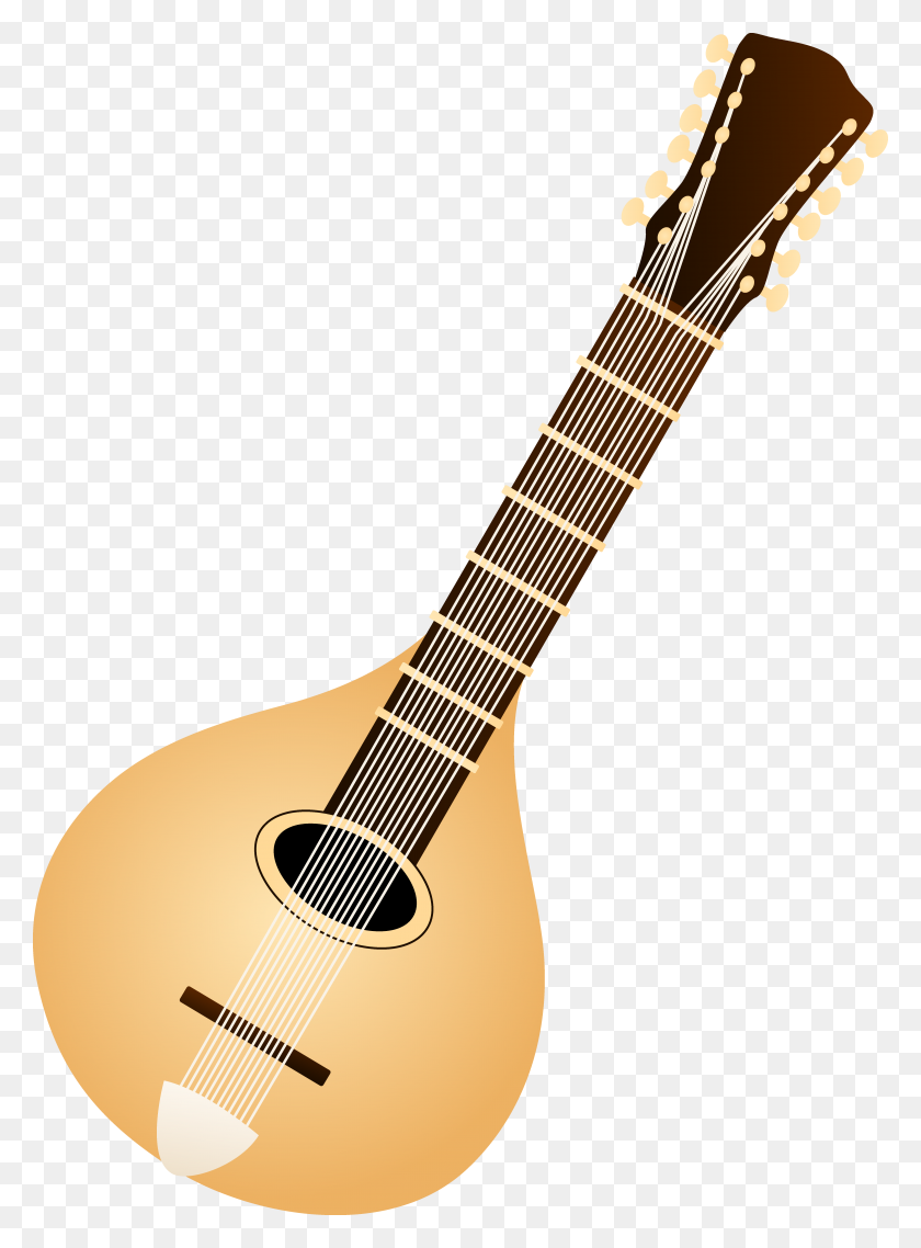 5412x7483 Classic Mandolin Design - Lute Clipart