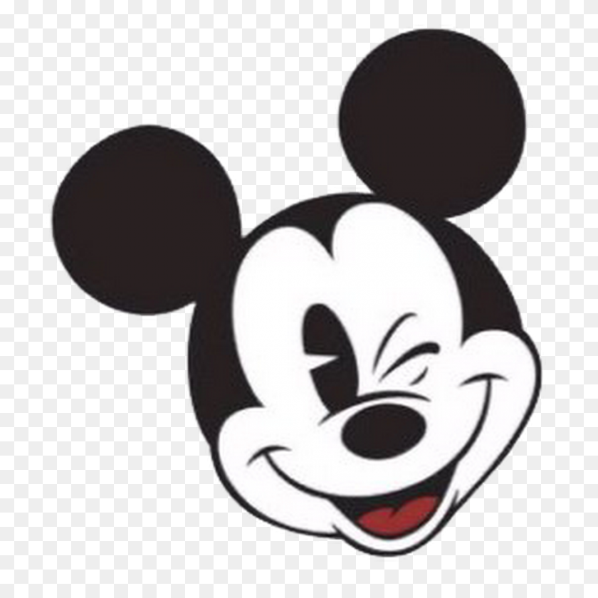 Classic Mickey Mouse Face - Mickey Mouse Face Clipart