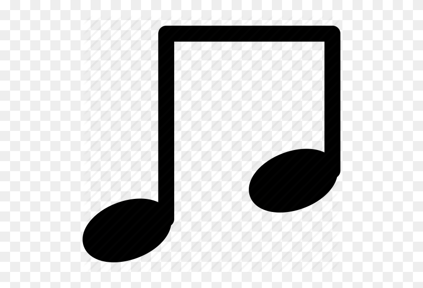 Classic Music, Music Note, Music Sign, Musical Single Bar Note - Music Note Icon PNG