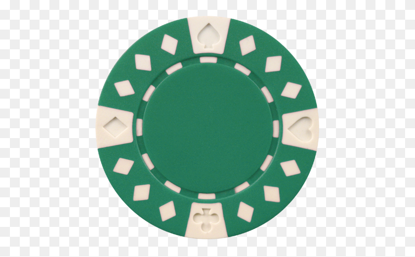 Clay Composite Diamond Suited Poker Chips Gram Green Poker - Poker Chip Clipart