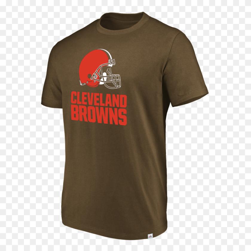 1024x1024 Cleveland Browns Majestic Men's Brown Flex Logo T Shirt - Browns Logo PNG