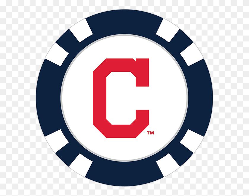 Cleveland Indians Poker Chip Ball Marker - Cleveland Indians Clip Art