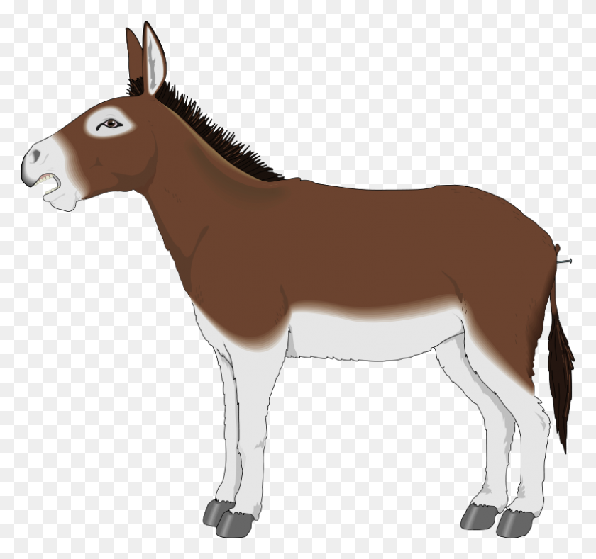 Clip Art Animals Here To Help Clipart - Donkey Clipart