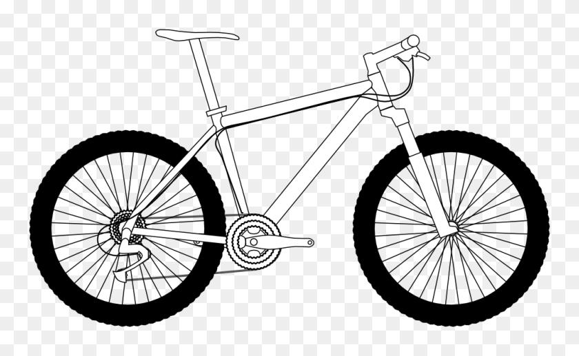 Clip Art Bikes - Mountain Clipart Black And White
