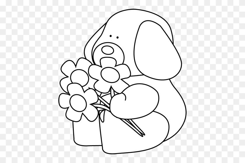 Clip Art Black And White Black And White Valentine's Day Dog - Valentines Day Black And White Clip Art