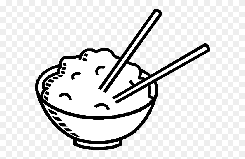 Clip Art Black And White Rice Bowl Black And White Clip Art - Shrimp Clipart Black And White