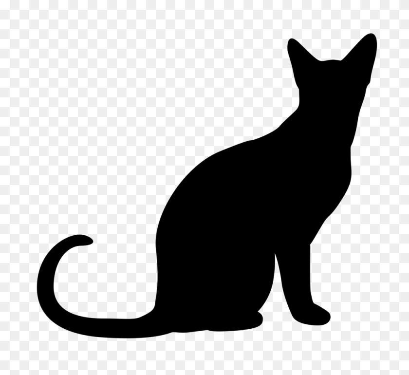 958x873 Clip Art Black And White Tabby Cat - Tabby Cat Clipart