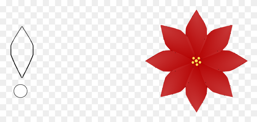 Clip Art Christmas Poinsettia Flower Petal - Poinsettia Clip Art