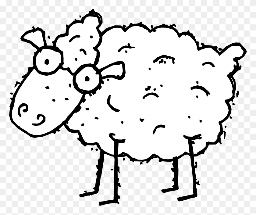 Clip Art Counting Sheep - Sheep Clipart