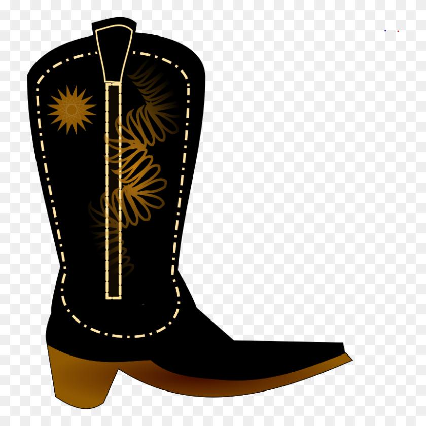 Clip Art Cowboy Boots - Cowboy Boots And Hat Clipart