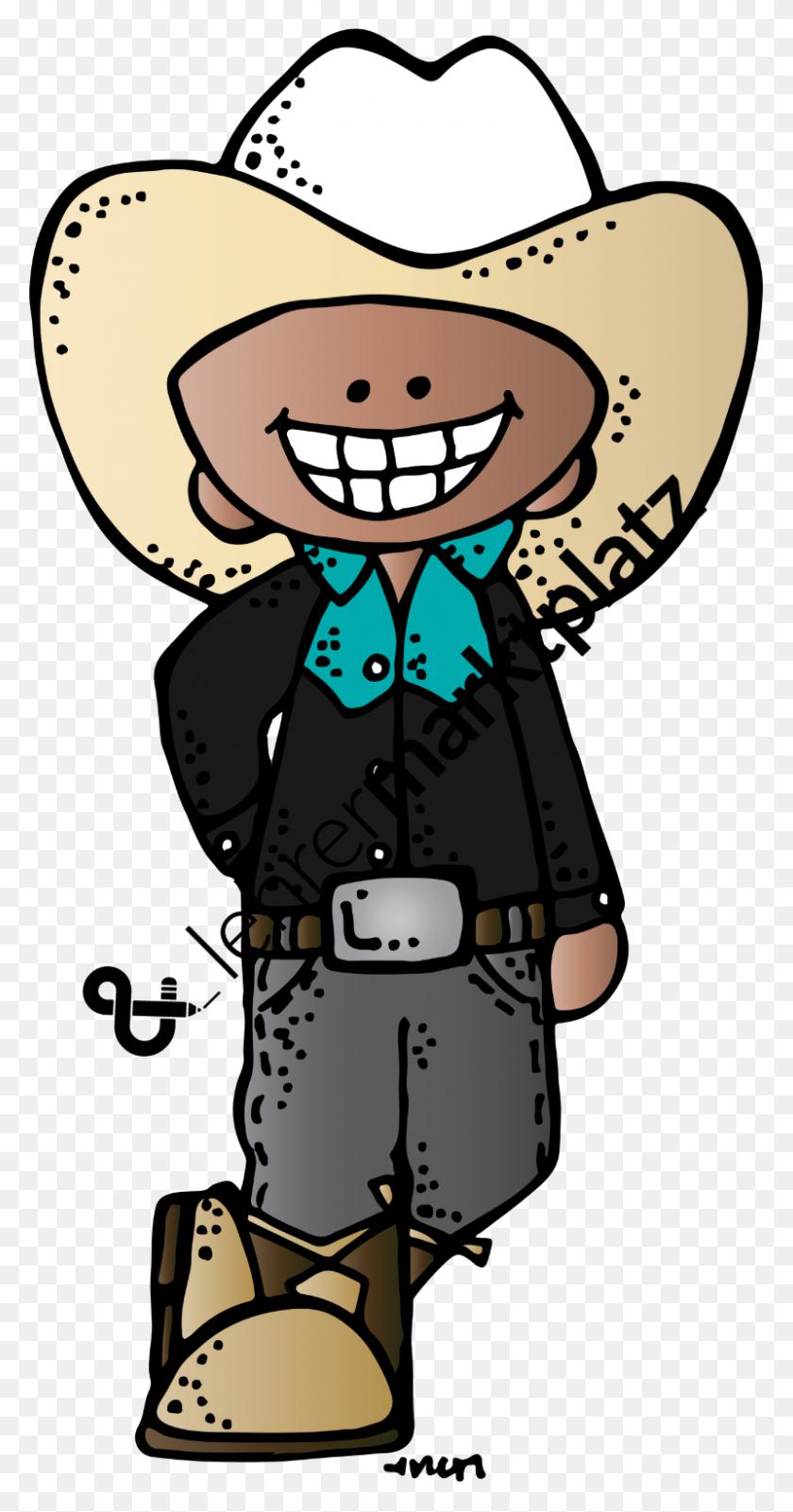 800x1581 Clip Art Cowboys Und Cowgirls - Cowboy And Cowgirl Clipart