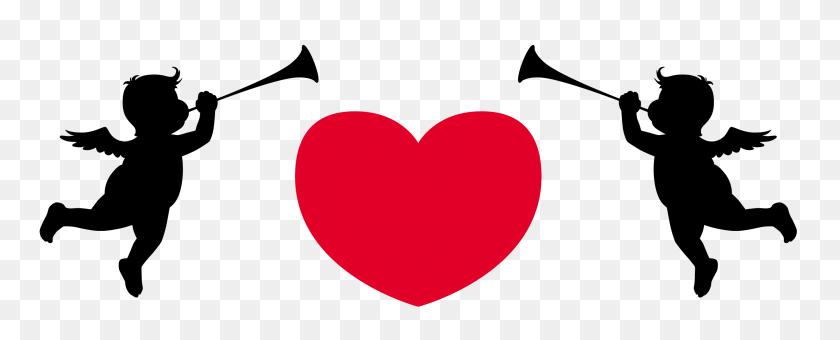 2664x957 Clip Art Cupid Arrow Clip Art - Arrow Heart Clipart
