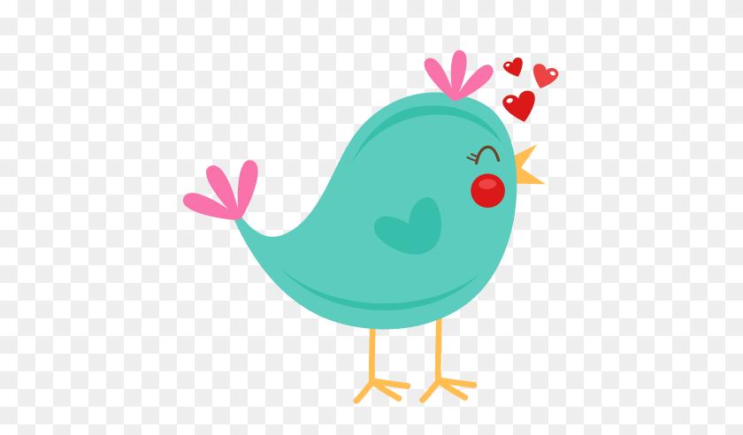 Clip Art Cute Bird Silhouette Valentine Scrapbook - Scrapbook Clipart