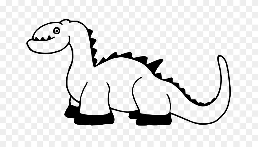 Clip Art Dinosaurs - Long Neck Dinosaur Clipart