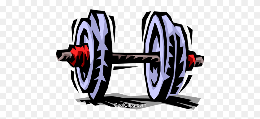 Clip Art Dumbbell Weightlifting Royalty Free Vector Clip Art - Weight Lifting Clipart