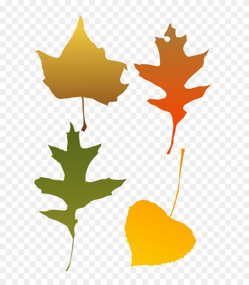 Clip Art Fall Leaf - Raking Leaves Clipart