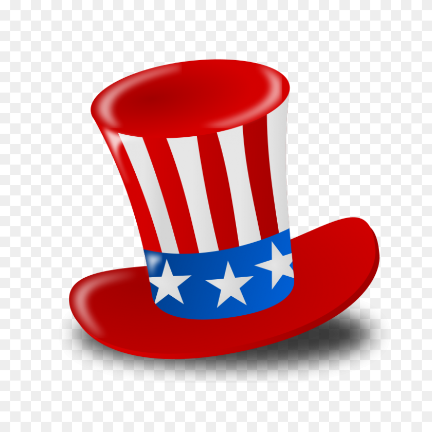 Clip Art Fourth Of July Free Vectors Make It Great! - Top Hat Clipart