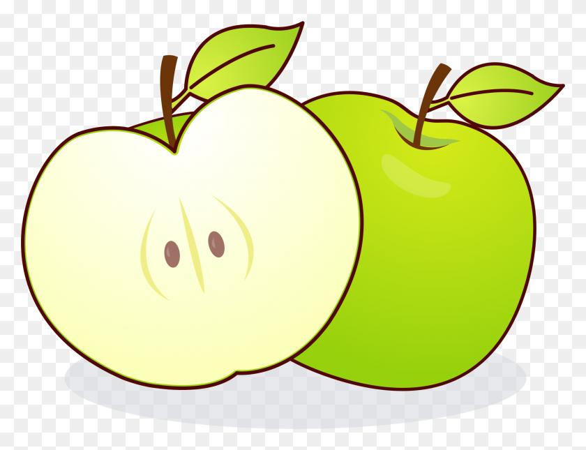 Clip Art Half Apple - Red Apple Clipart