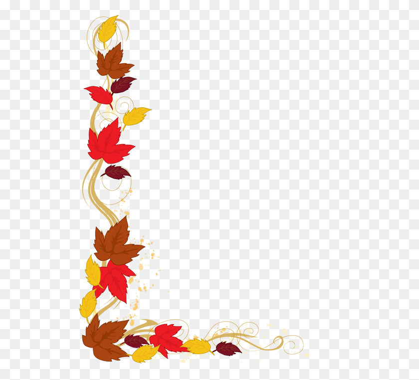 Clip Art Of A Background Of Autumn Leaves Falling From A Bare Tree - Snowflakes Falling Clipart