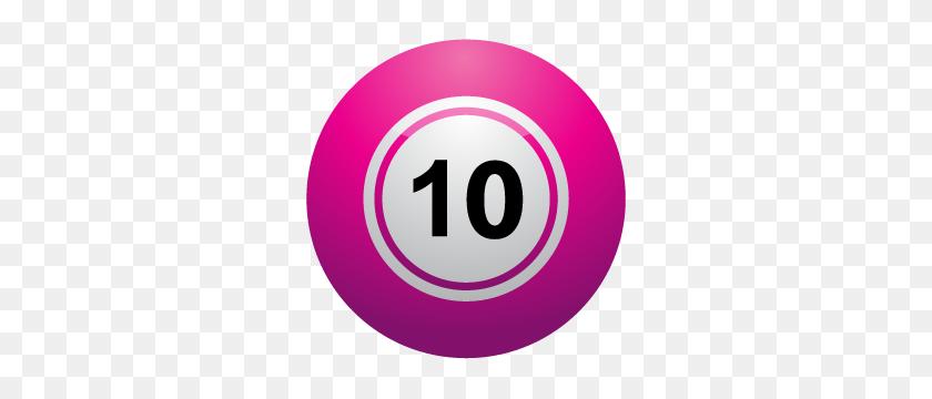 Clip Art Of A Ten Ball - Ten Clipart