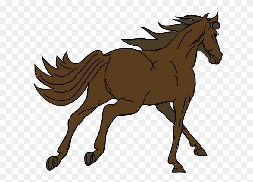 Clip Art Of Horses Proyectos Que Intentar Brown - White Horse Clipart
